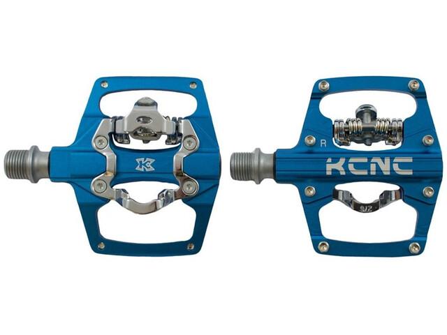 KCNC AM Trap Pédales Clipless Dual Side, blue